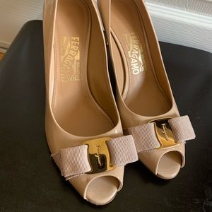 Salvatore Ferragamo High heel Shoes (Nude color)